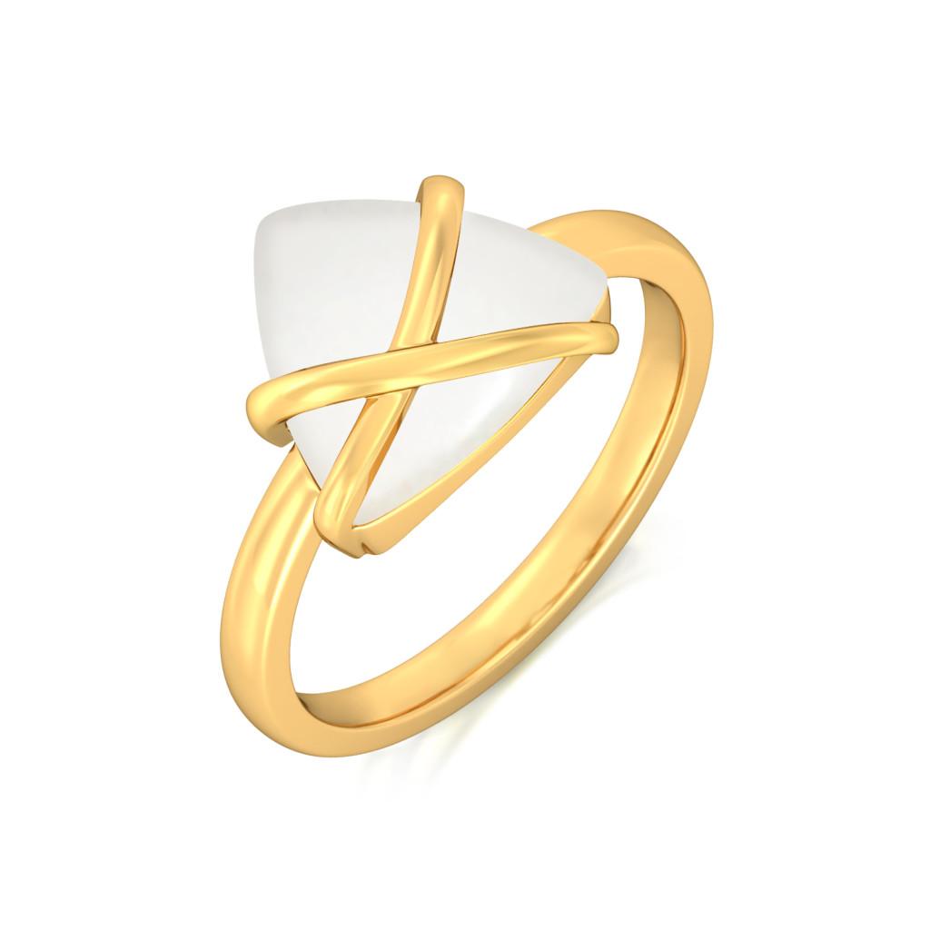Ivory Edge Gemstone Rings