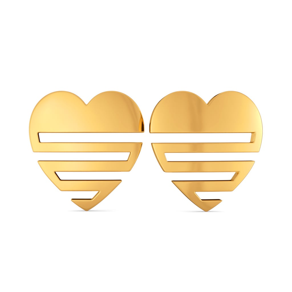 Heart O Mega Gold Earrings