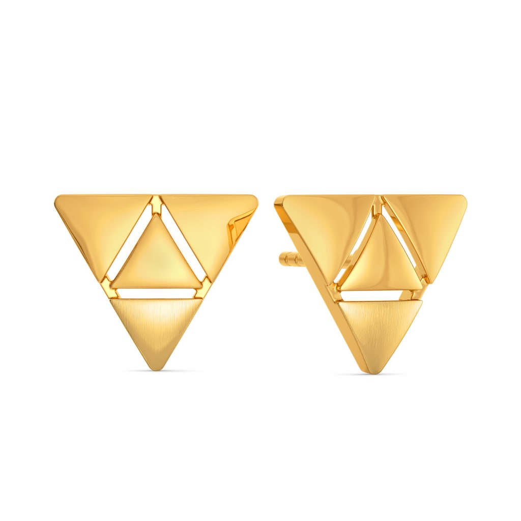 Francais Minimal Gold Earrings