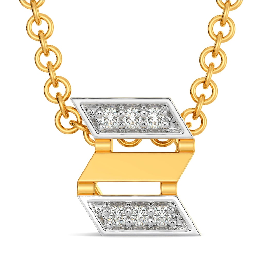 French Twinsets Diamond Pendants