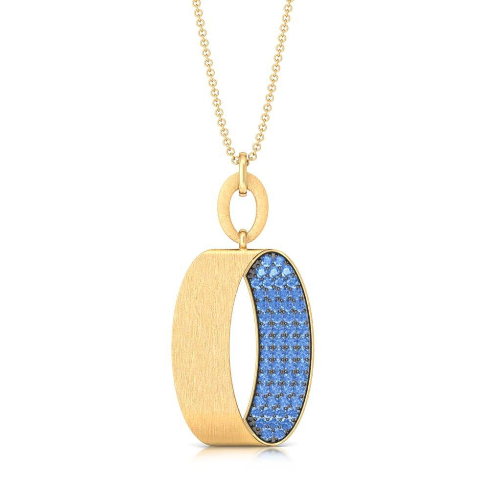 Peek-a-Blue Gemstone Pendants