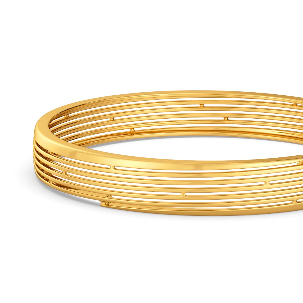 Slip Stitch Gold Bangles