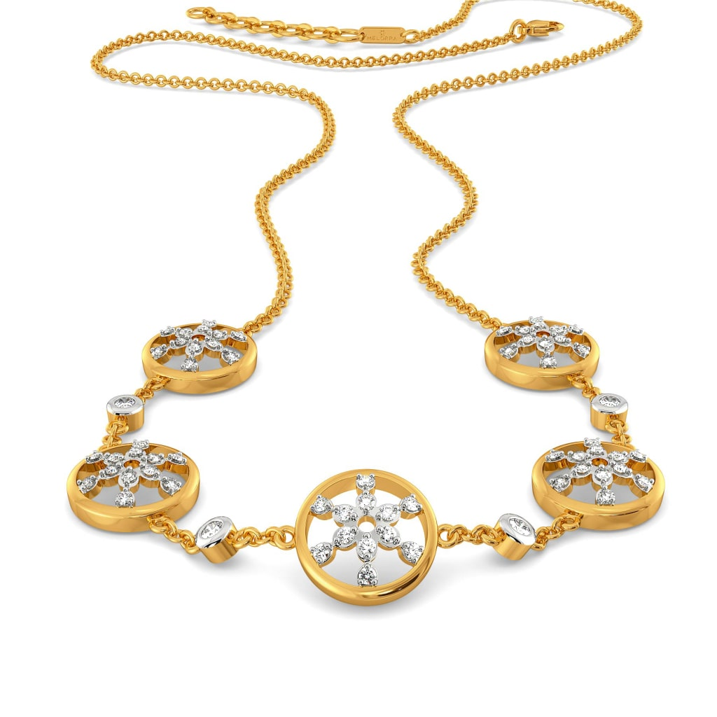 Lace Broderie Diamond Necklaces