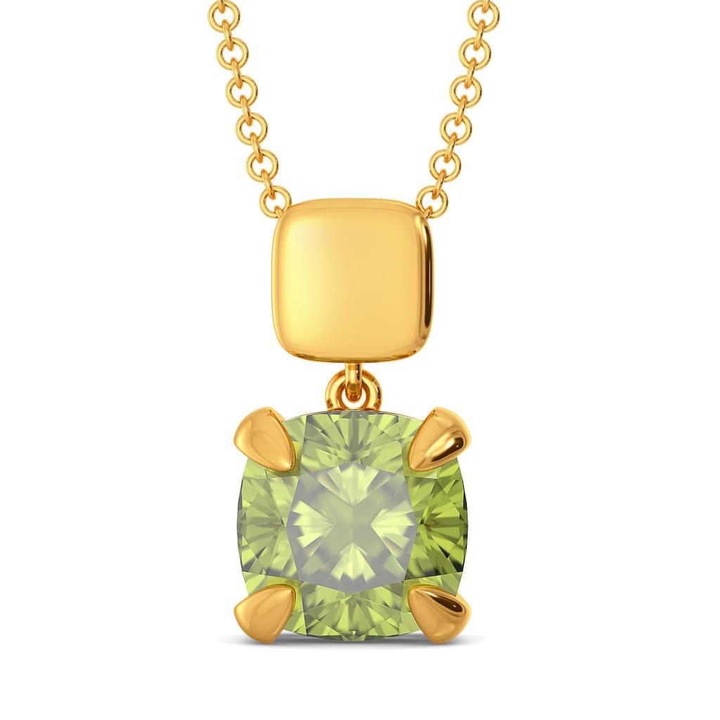 Honeydew Green Gemstone Pendants