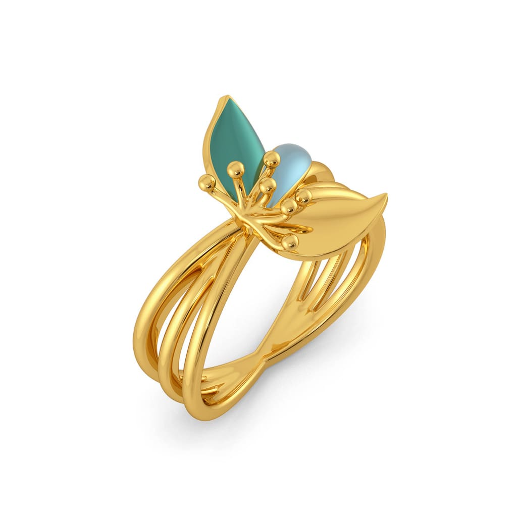 Bertyl Bloom Gold Rings