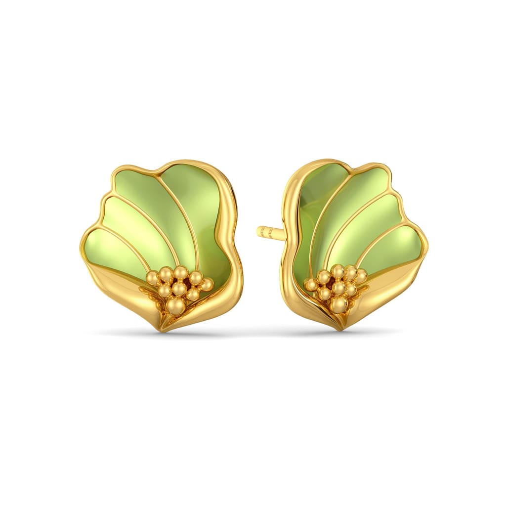 Flax Petale Gold Earrings