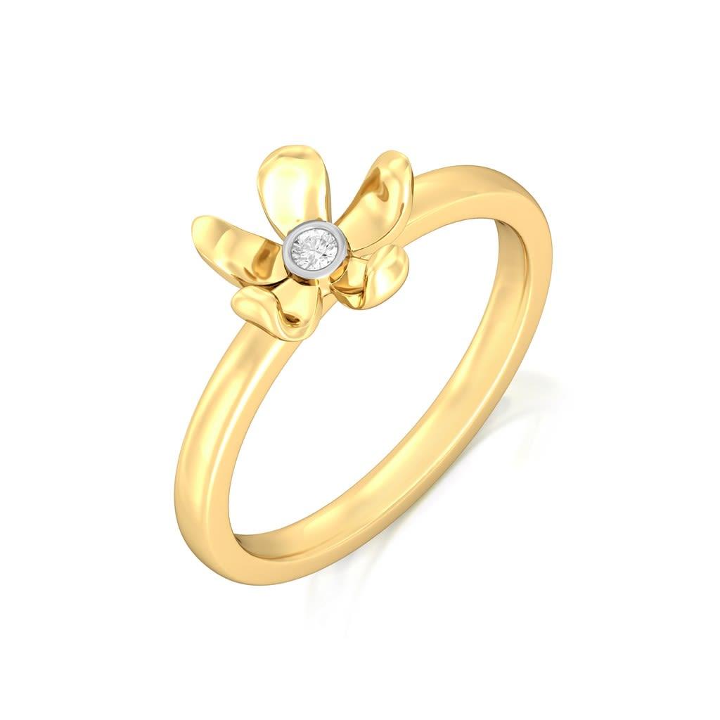 Blooming Floret Diamond Rings