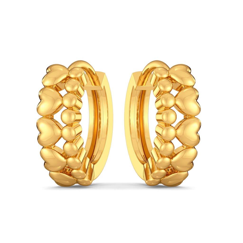 Disco Hearts Gold Earrings