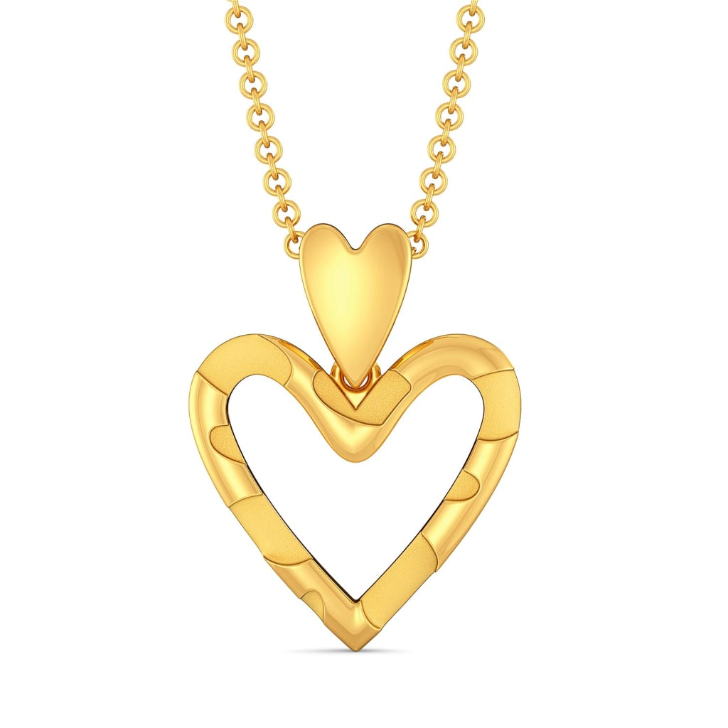 Love at First Sight Gold Pendants