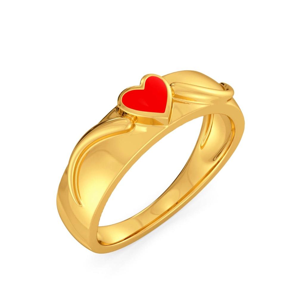 Heart Apart Gold Rings