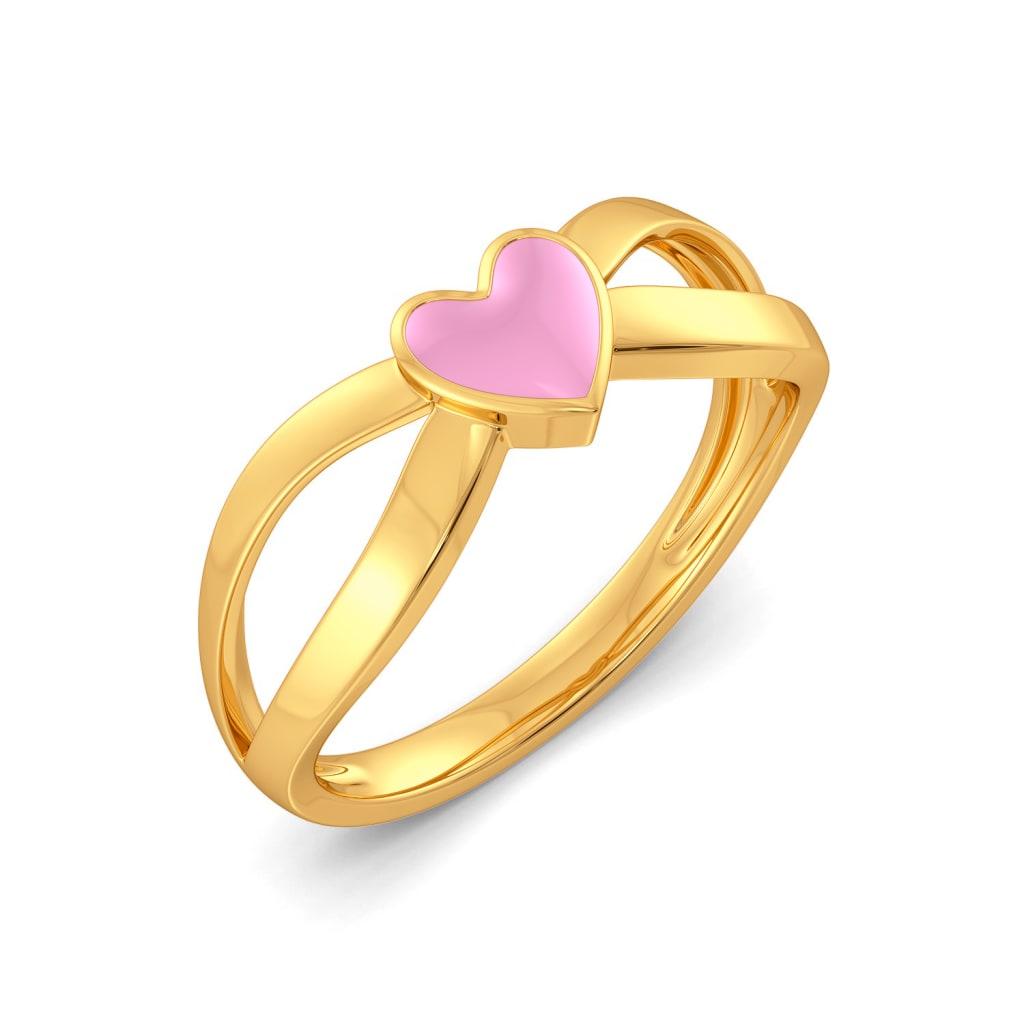 Blue Blush Gold Rings
