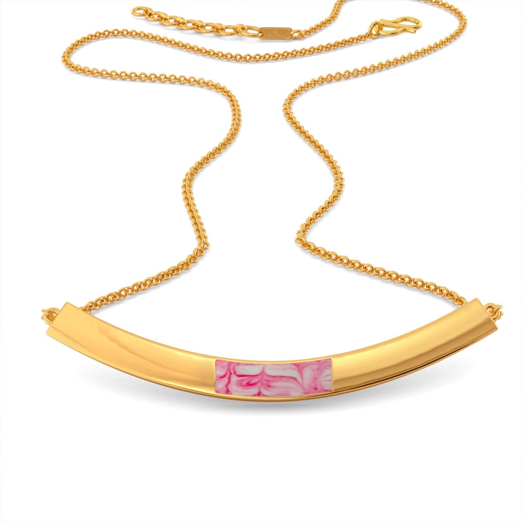 Boho Pink Gold Necklaces