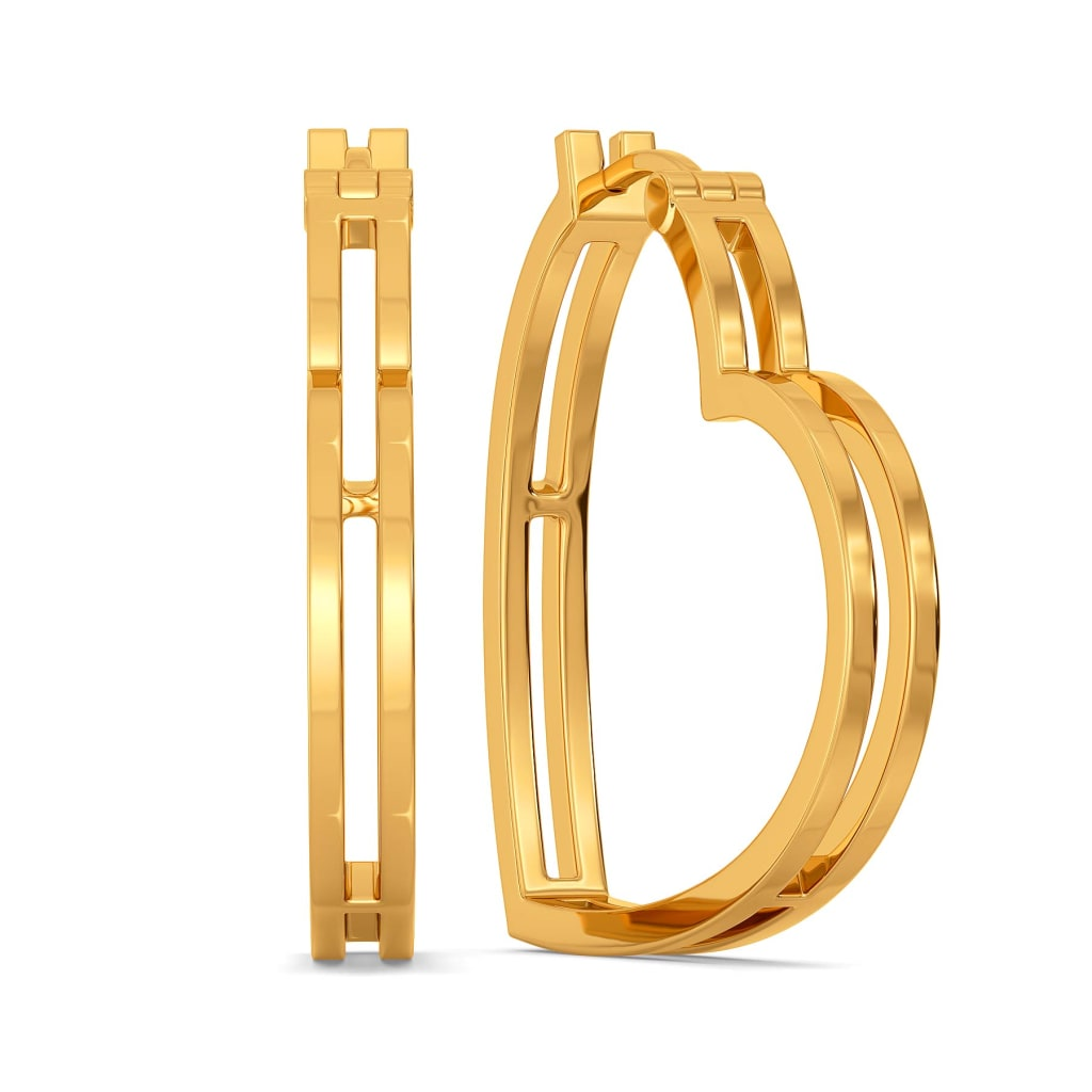 Glam Romance Gold Earrings