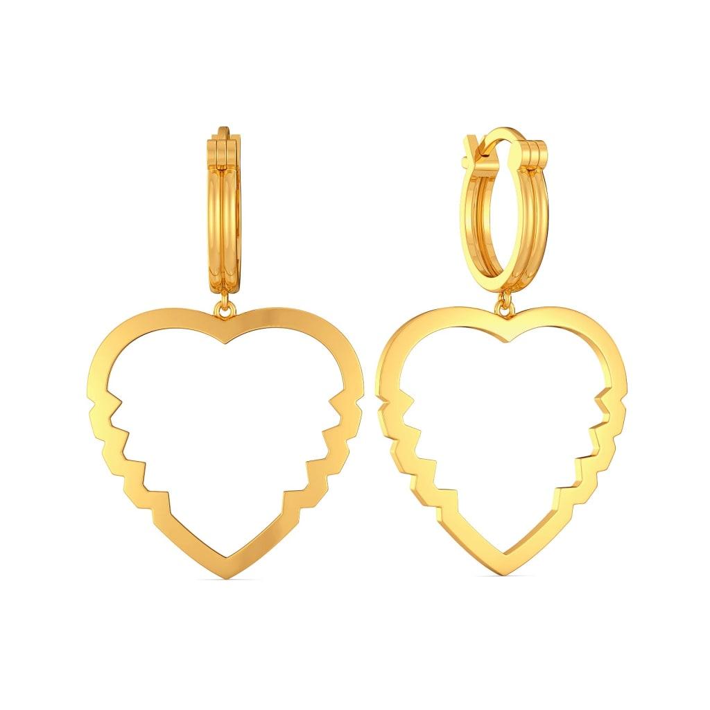 Vision O Love Gold Earrings