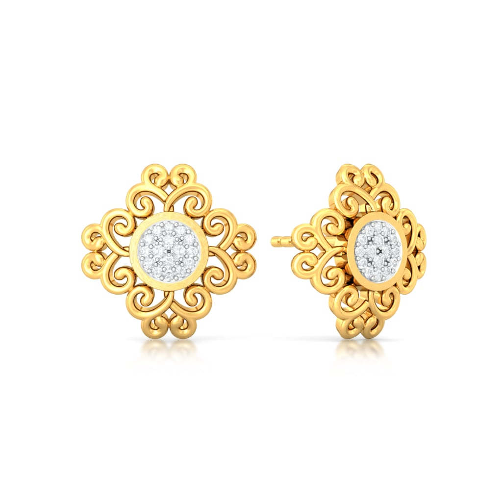 Twirl-o-rama Diamond Earrings