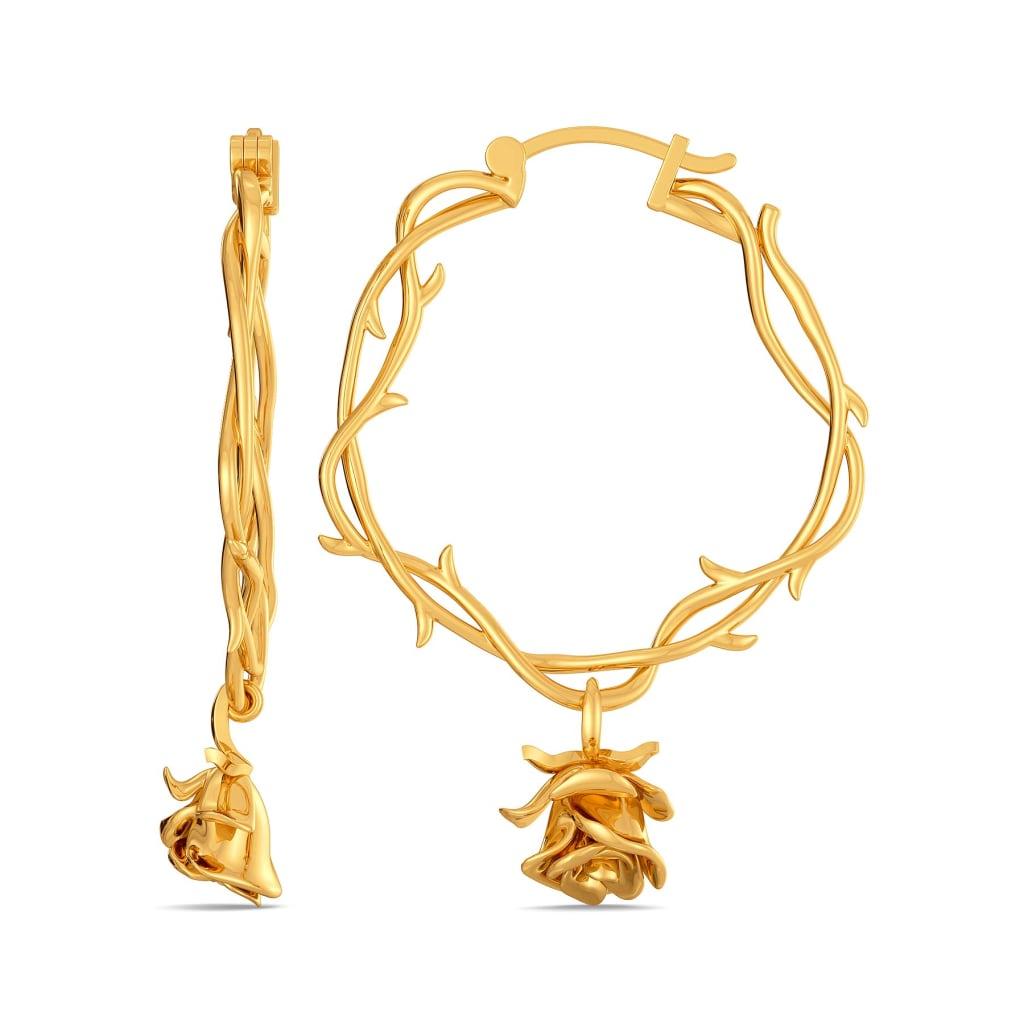 Rose Entwine Gold Earrings