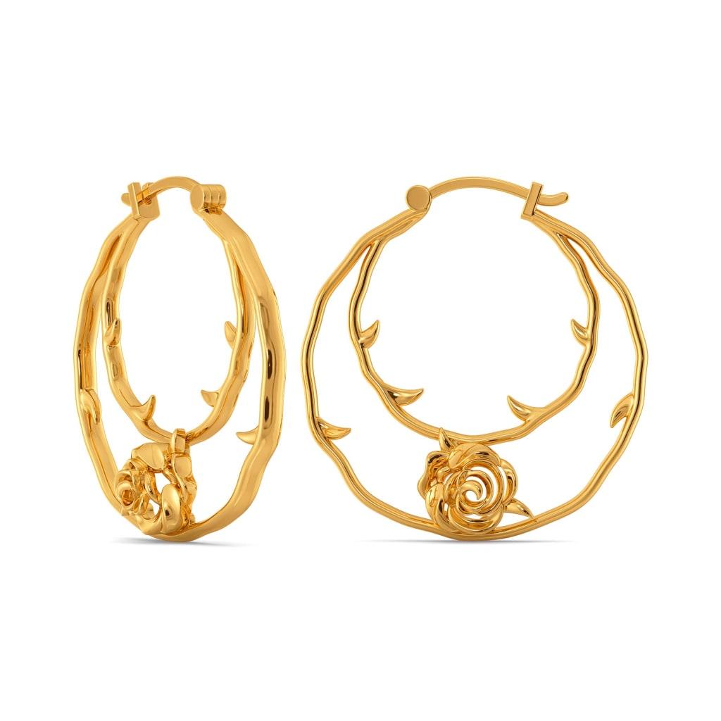 Rose Garden Gold Earrings