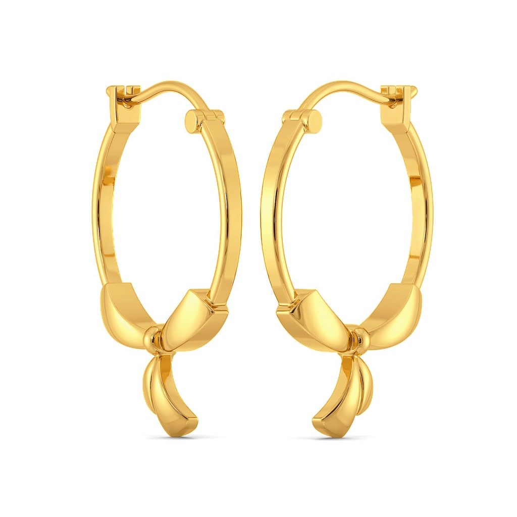 Curvy Accents Gold Earrings