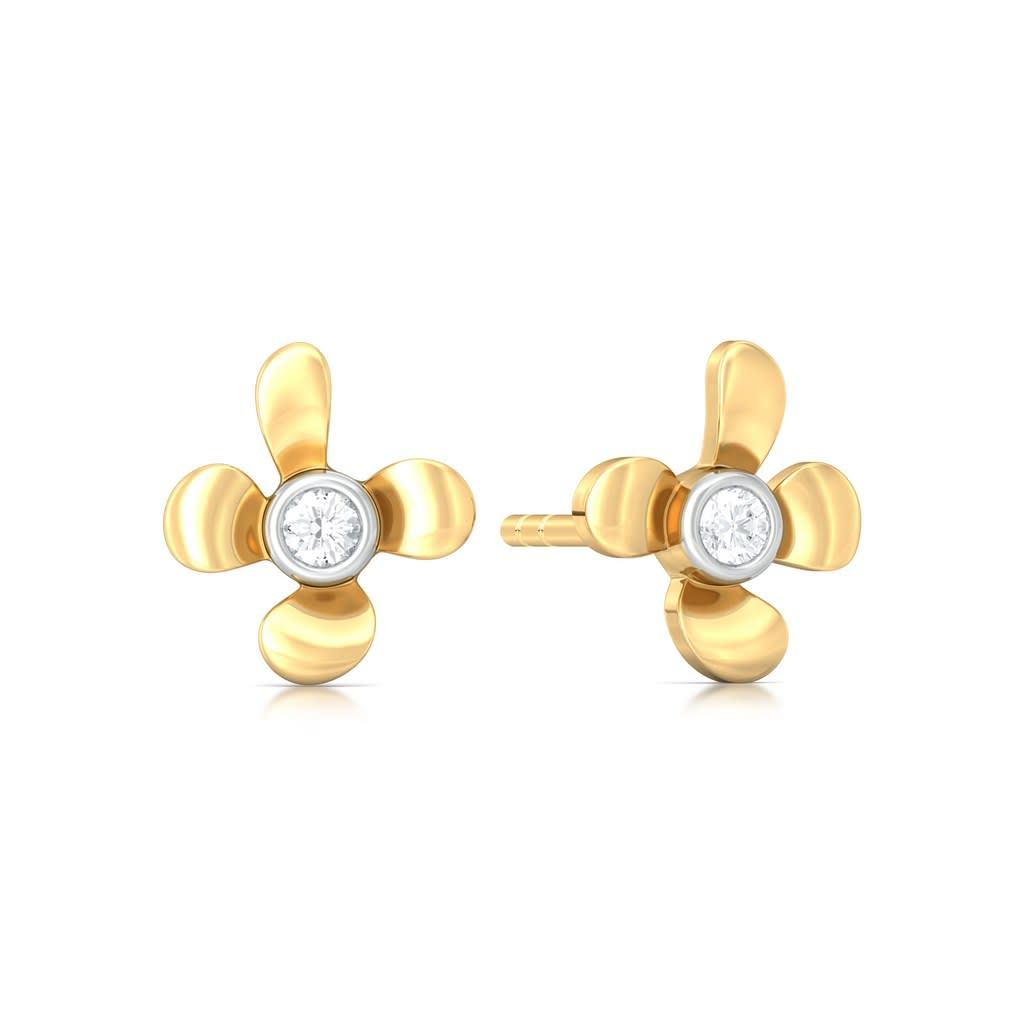 Sweet Floral Diamond Earrings