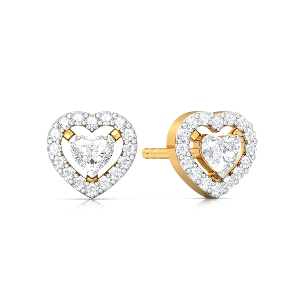 Ace of Hearts Diamond Earrings