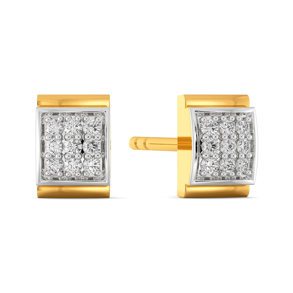 Edgy Editions Diamond Earrings