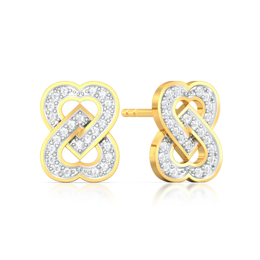 Two Hearts Diamond Earrings