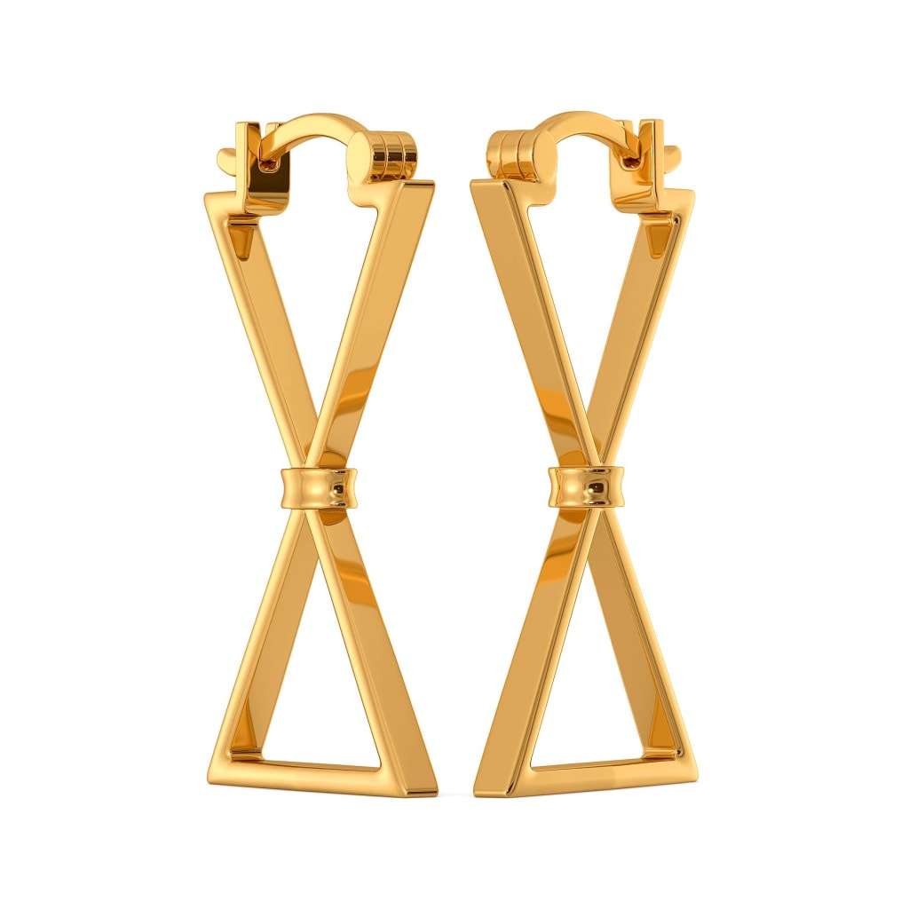 Bow Blooms Gold Earrings
