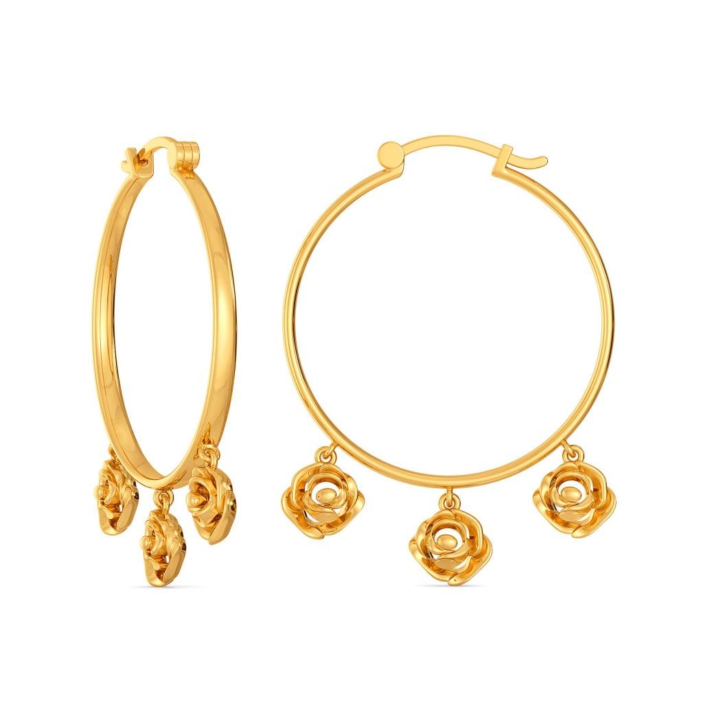 Rose de Meaux Gold Earrings