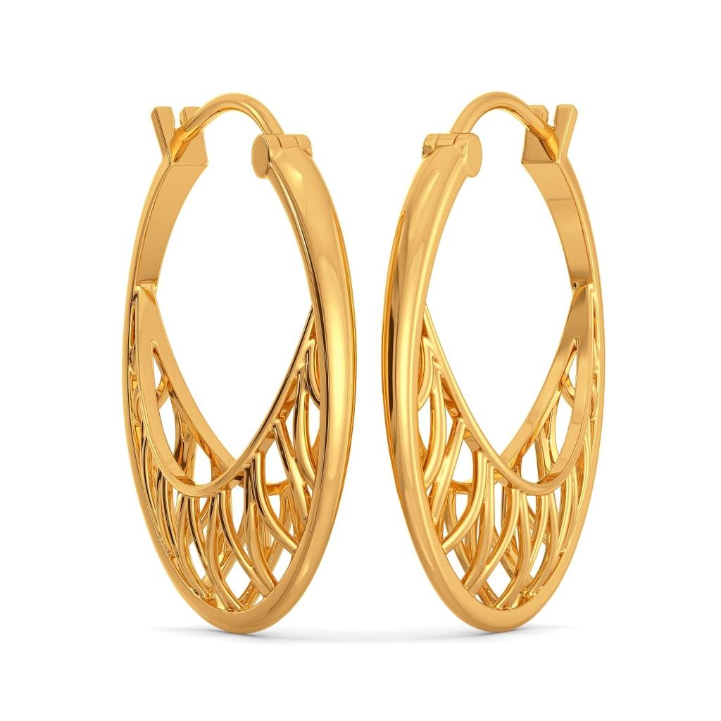 Link O Mesh Gold Earrings