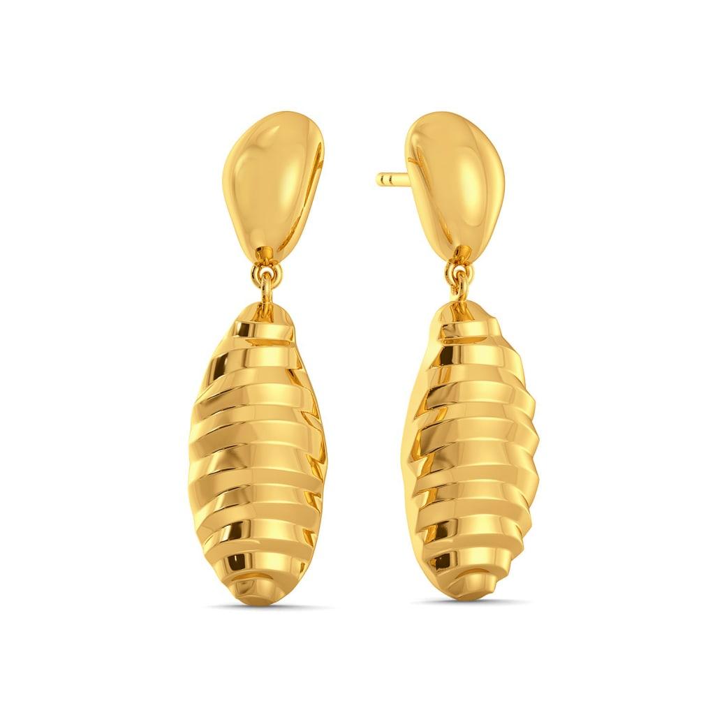 Stripe Hype Gold Earrings