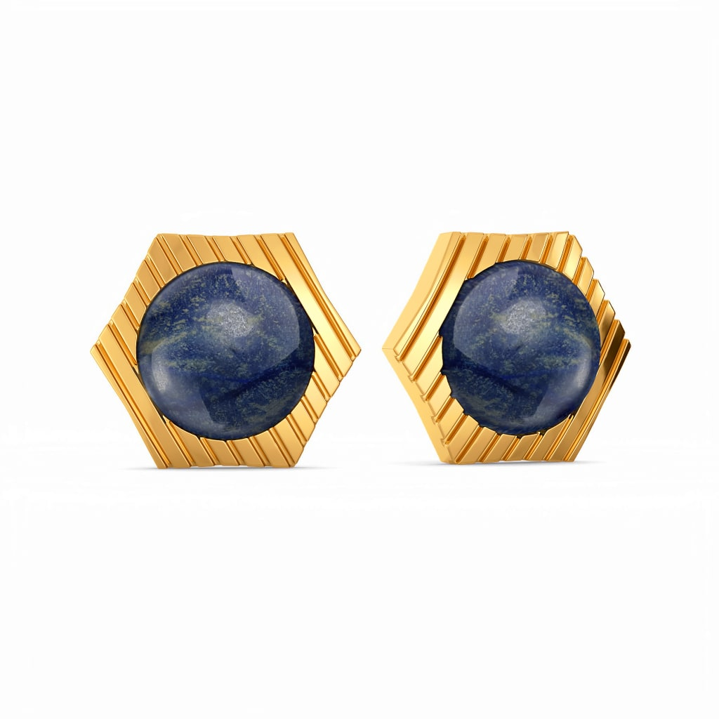 Denim Diaries Gemstone Earrings