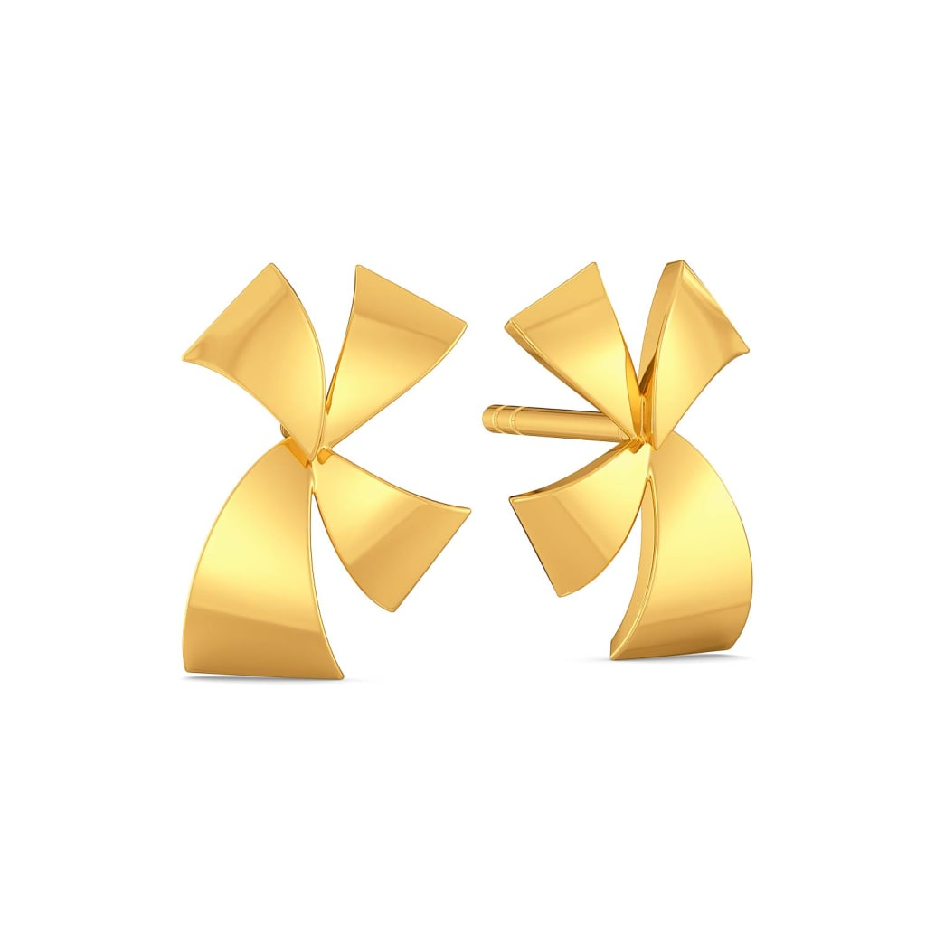 Bow Vow Gold Earrings