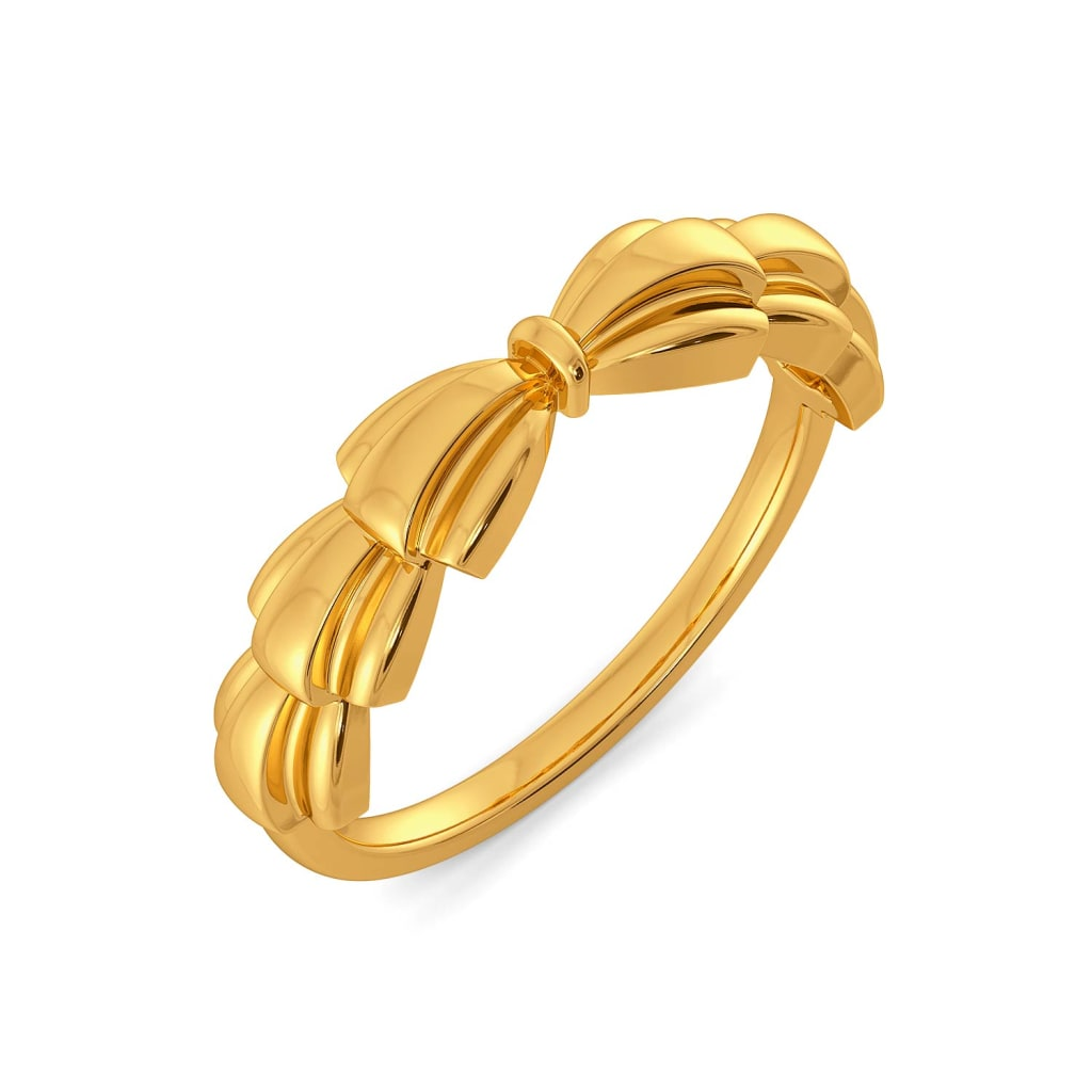 Bold Folds Gold Rings