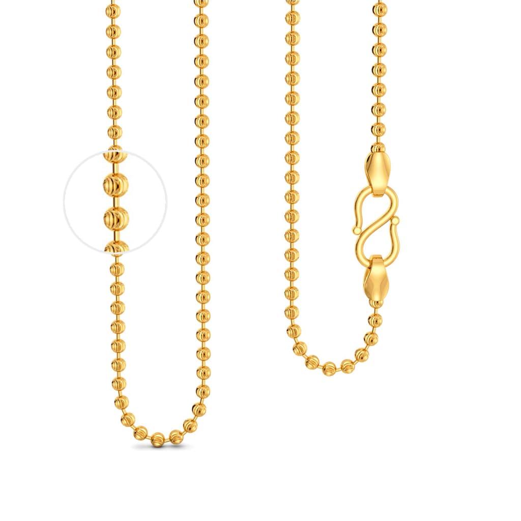 22kt Ball C Cut Chain Gold Chains