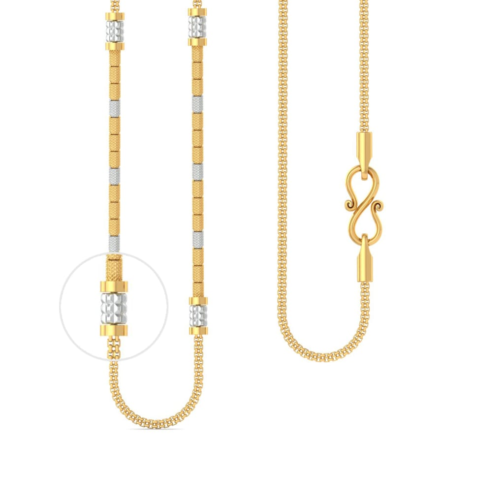 22k beaded snake chain Gold Chains