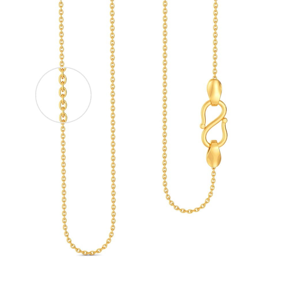 18kt Round Anchor Chain Gold Chains
