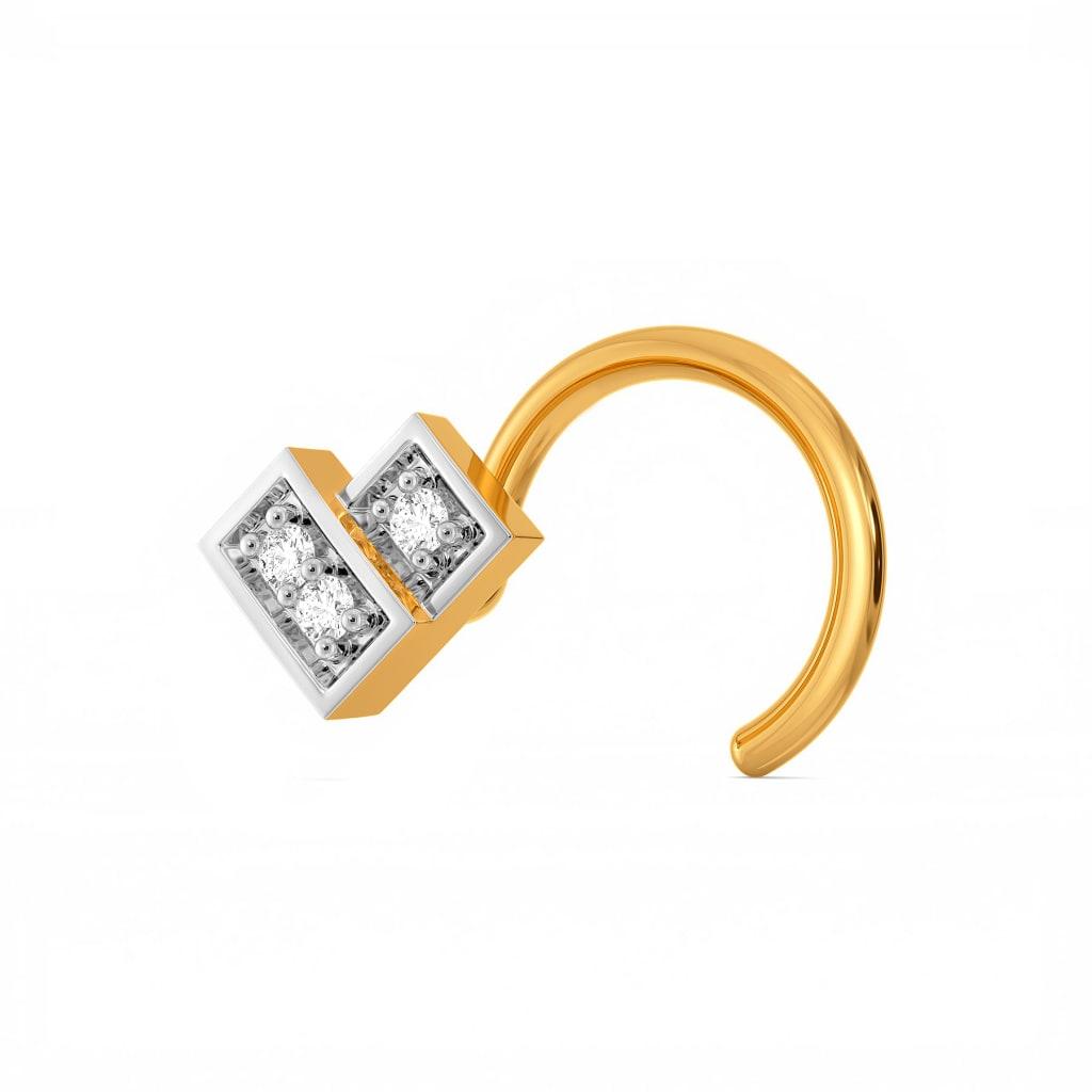 A Check Deck Diamond Nose Pins