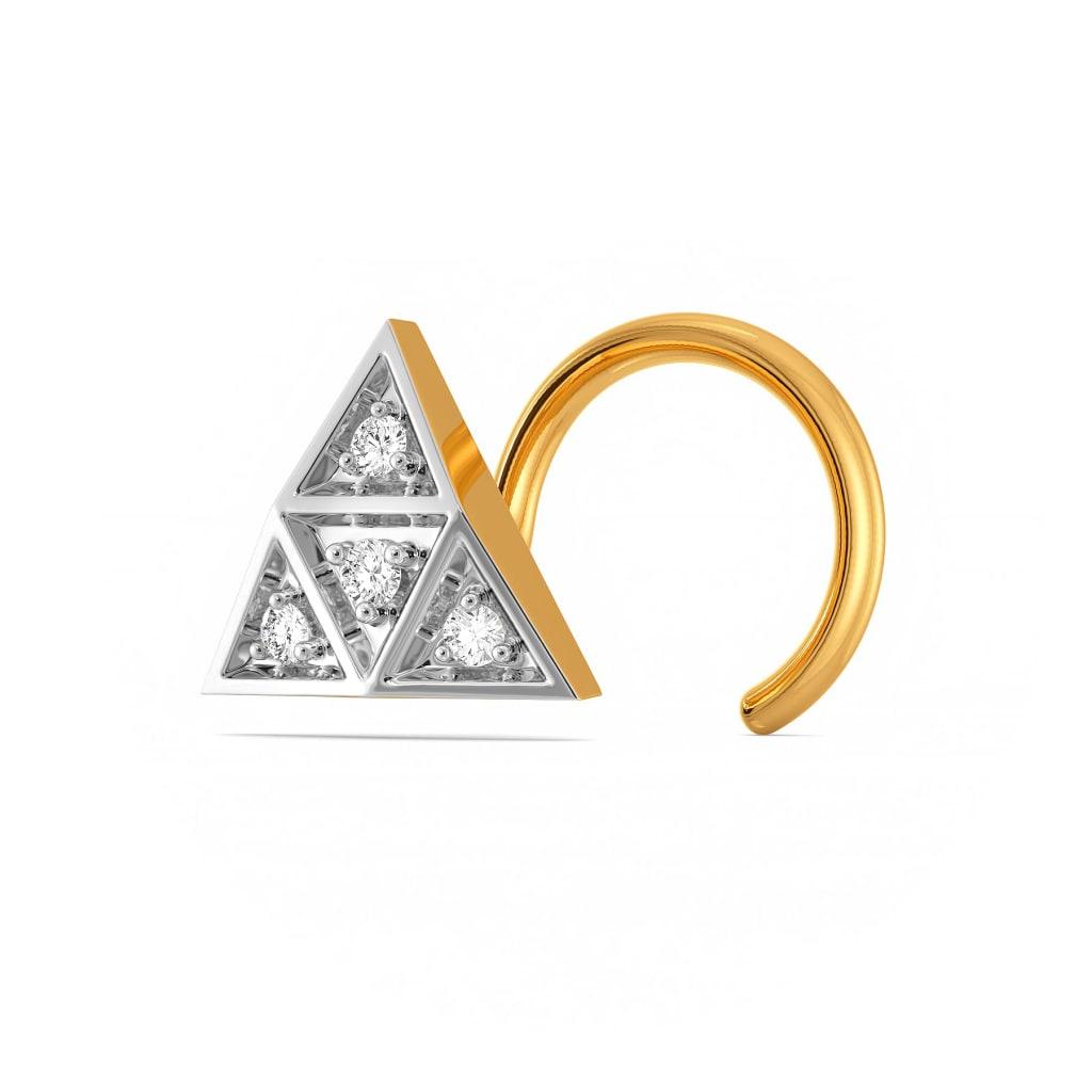 Tri Argyle Diamond Nose Pins