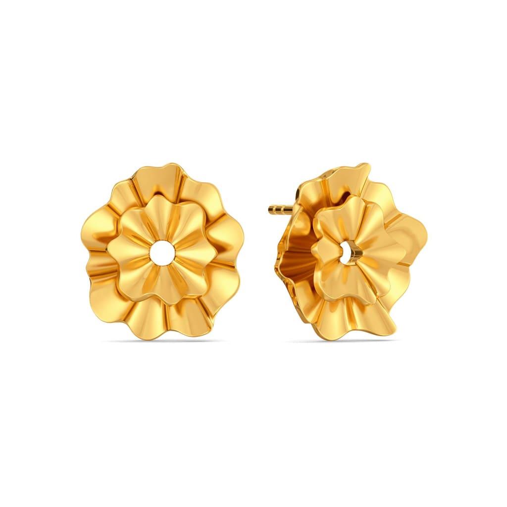 Fluff The Ruff Gold Earrings