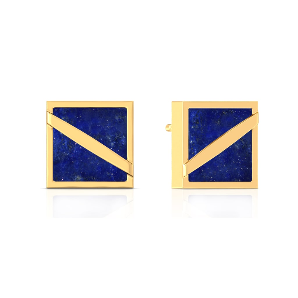 Nouveau Navy Gemstone Earrings