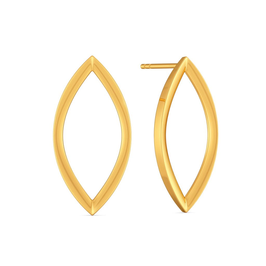 The Edgy Effect Gold Earrings