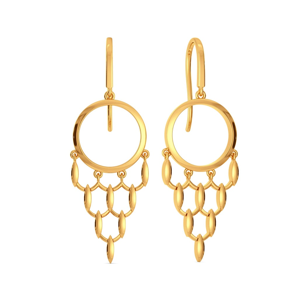 Meshy Affair Gold Earrings