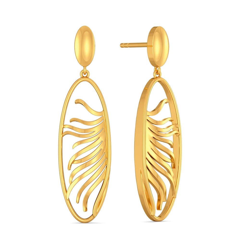 Plume Boom Gold Earrings