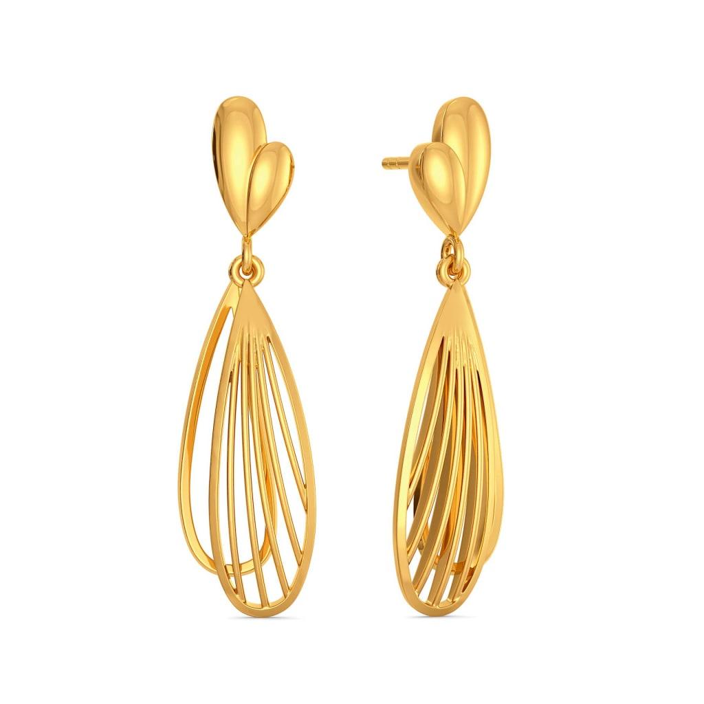 Joli Petale Gold Earrings