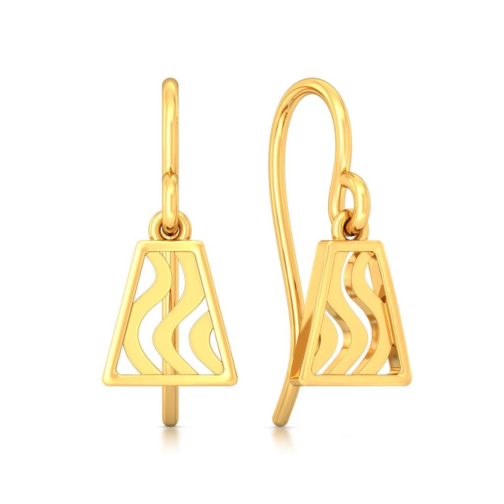 Trapeze Gold Earrings