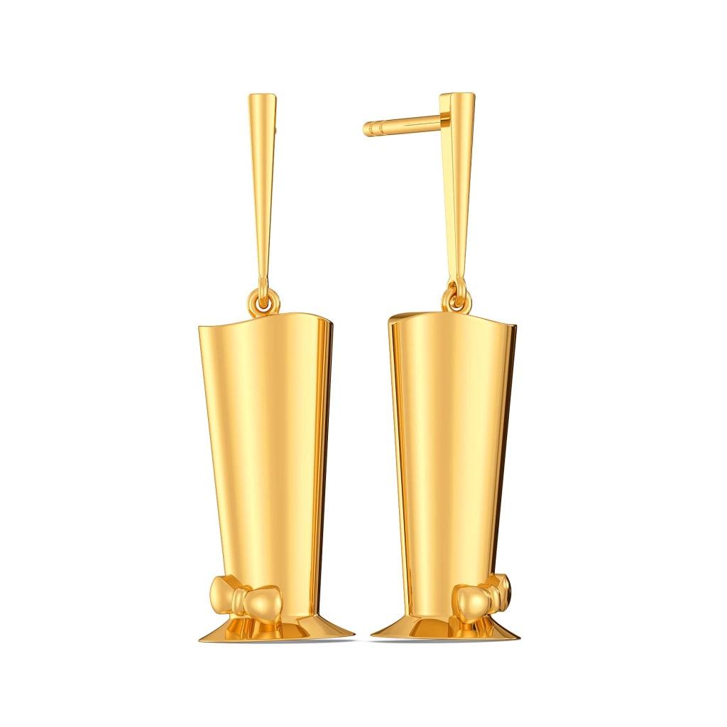 Hat to Happen Gold Earrings