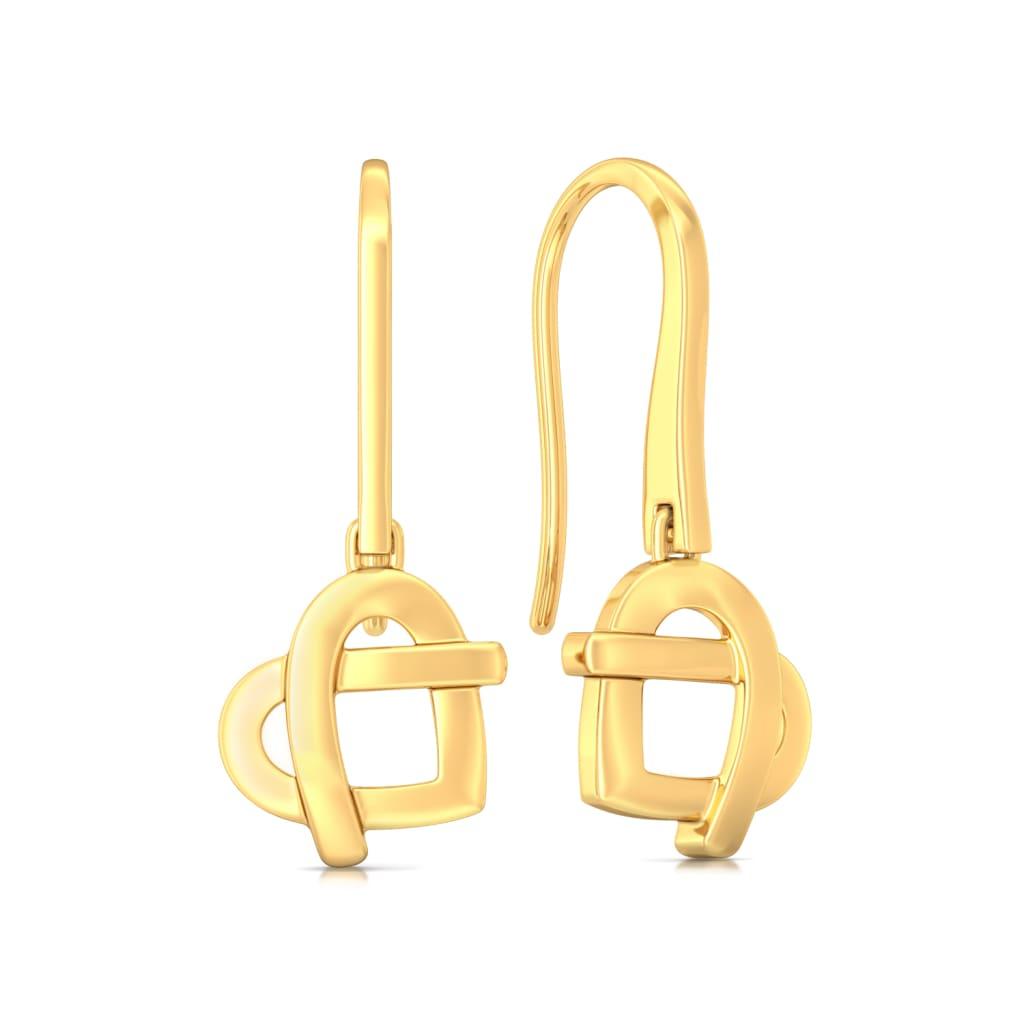 Knotty Affair Gold Earrings