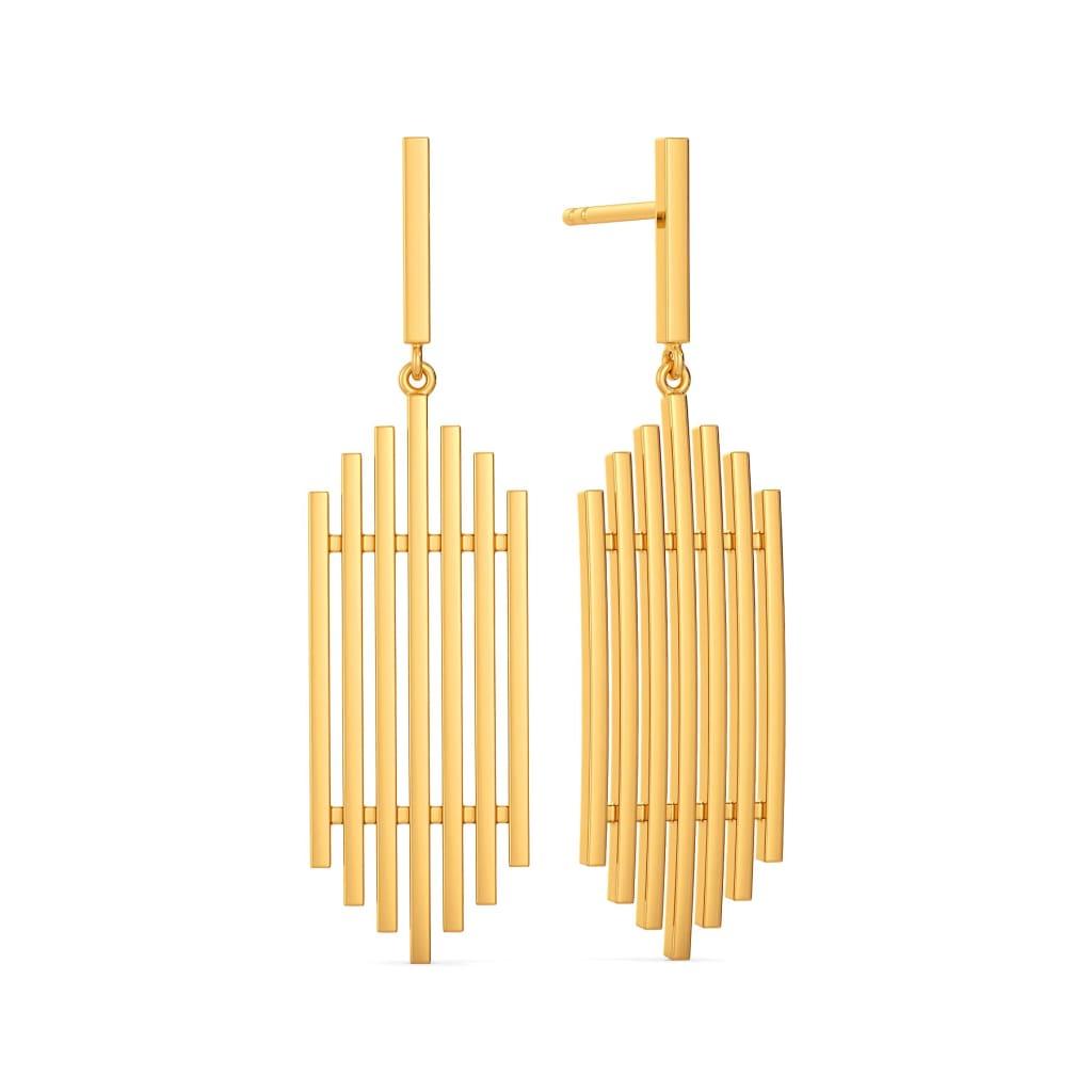 Lacy Label Gold Earrings