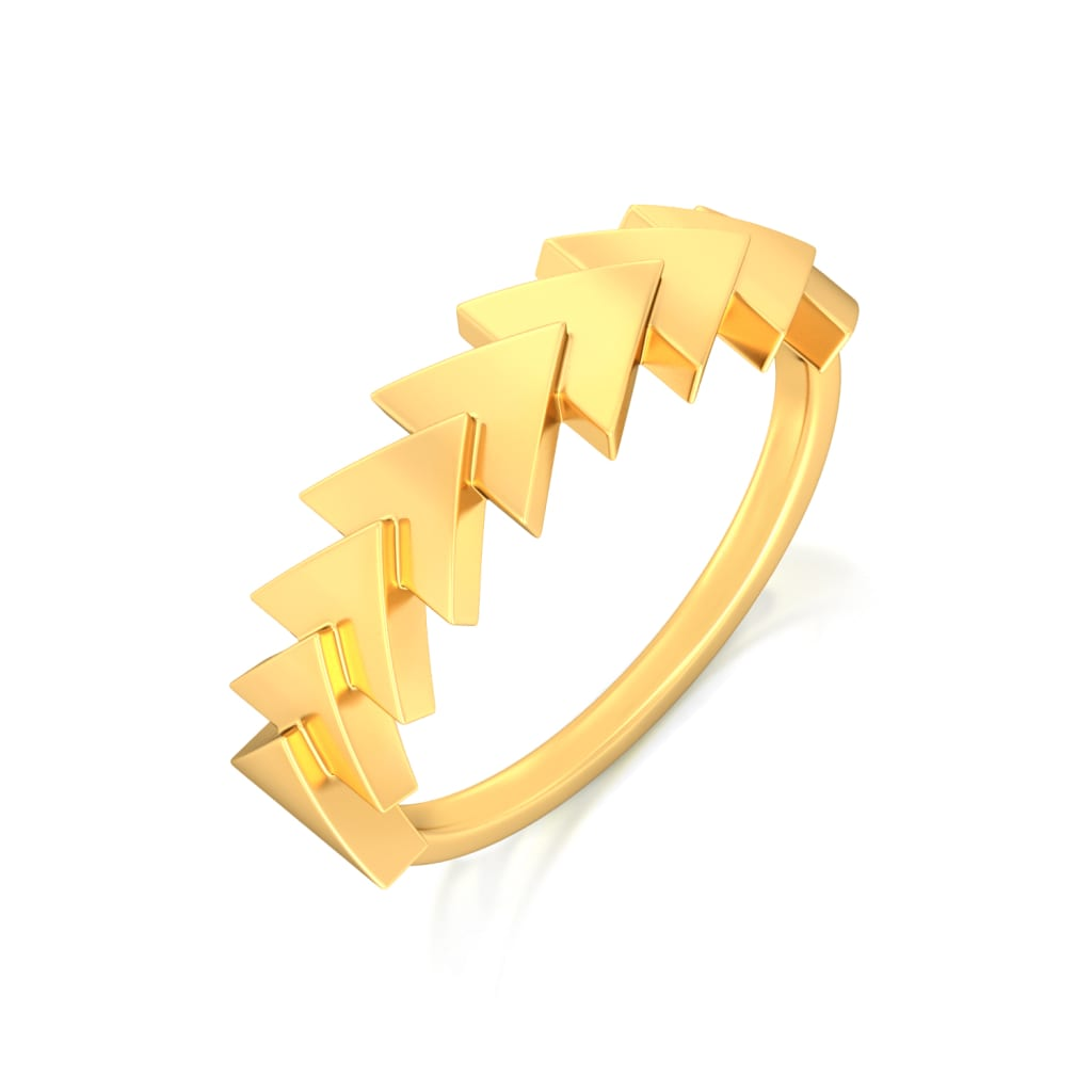 Patterns Gone Cray Gold Rings