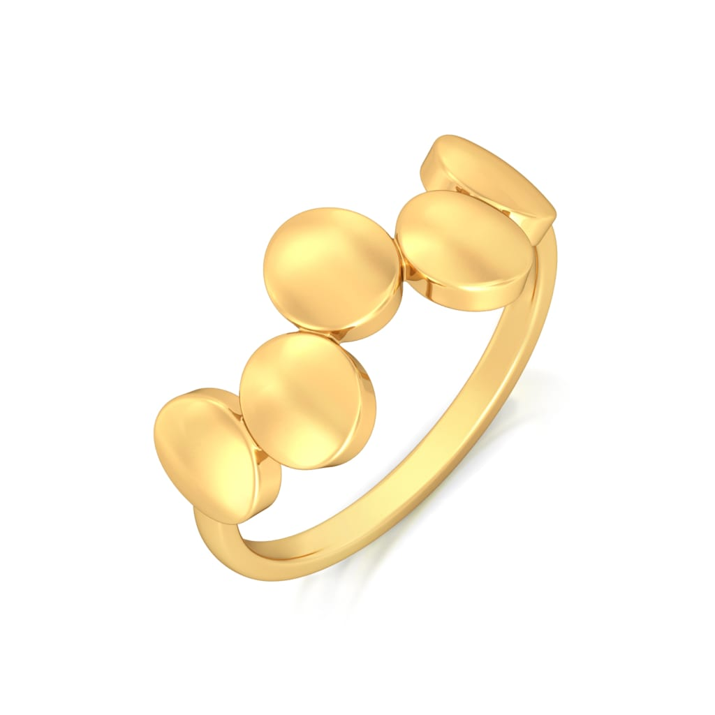 Oval Ambition Gold Rings